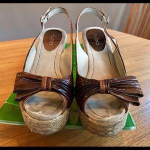 Shoes - Aldo slingback raffia wedge, size EUR 40
